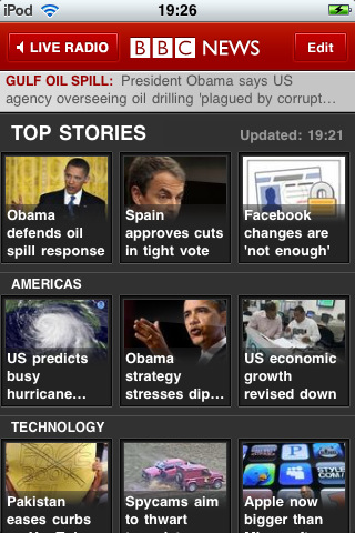 bbc news Top 100 Best Free iPhone 4 Apps