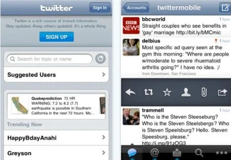 twitter Top 100 Best Free iPhone 4 Apps