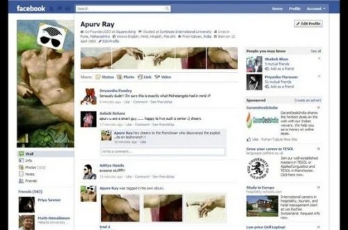 new facebook profile hack12 e1293996311612 35 Most Amazing And Creative Examples Of New Facebook Profile Page Design