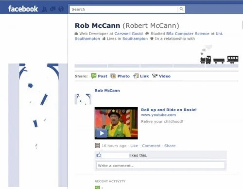 new facebook profile hack3 e1293994808492 35 Most Amazing And Creative Examples Of New Facebook Profile Page Design