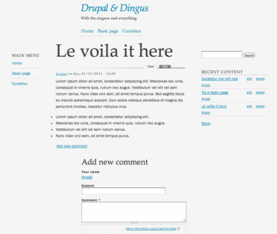 best free drupal theme41 e1300088579238 40 High Quality Drupal Themes For Free Download