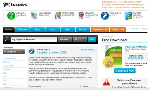 tucows Top 10 Best Free Software Download Sites