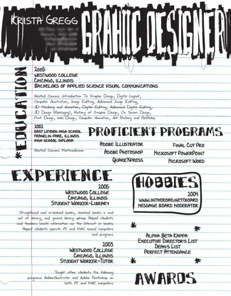 87 e1269803920171 100 Most Creative Resume Examples for Inspiration