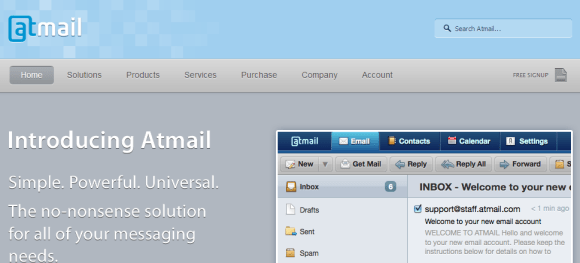 Atmail Email Server Webmail Client Mail server Appliance Linux and PHP 580x263 Top 7 Webmail Software