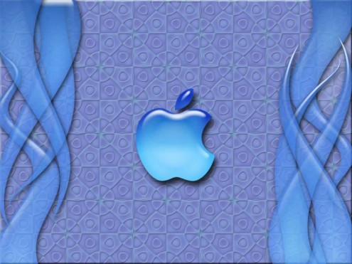 blueapple e1273320774392 35 Most Beautiful Widescreen Wallpapers of Apple