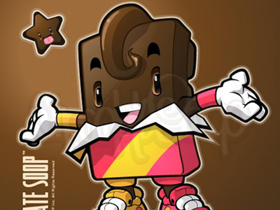 chocolate character 80 Excellent Adobe Illustrator Cartoon Tutorials