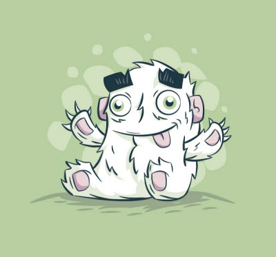 cute creature character 80 Excellent Adobe Illustrator Cartoon Tutorials