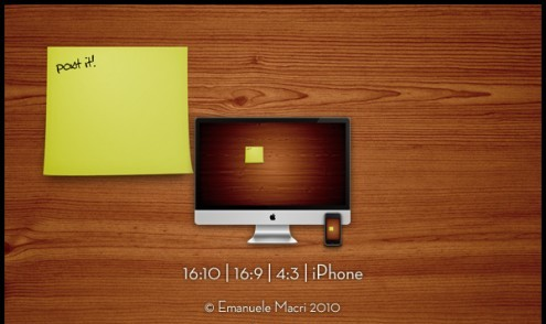 postit1 e1273314597208 35 Most Beautiful Widescreen Wallpapers of Apple