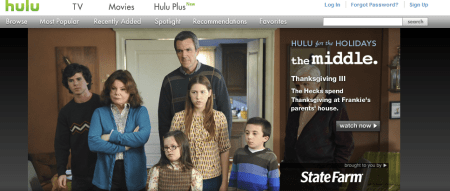 HULU 450x191 Best Entertainment Websites On The Web in 2011