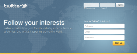twitter 450x179 Best Entertainment Websites On The Web in 2011