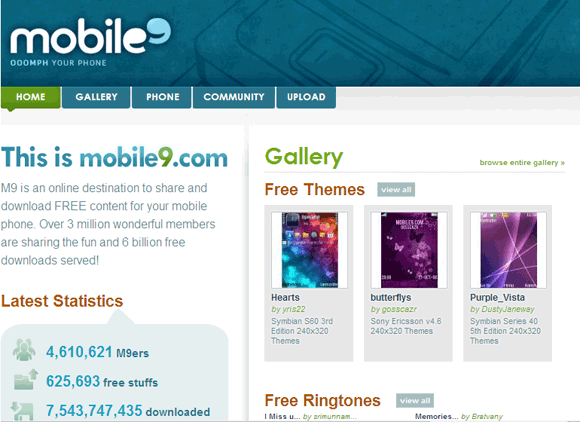 Mobile9 Top 10 Websites For Free iPhone Ringtones