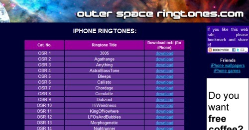 Outer Space Ringtones Top 10 Websites For Free iPhone Ringtones