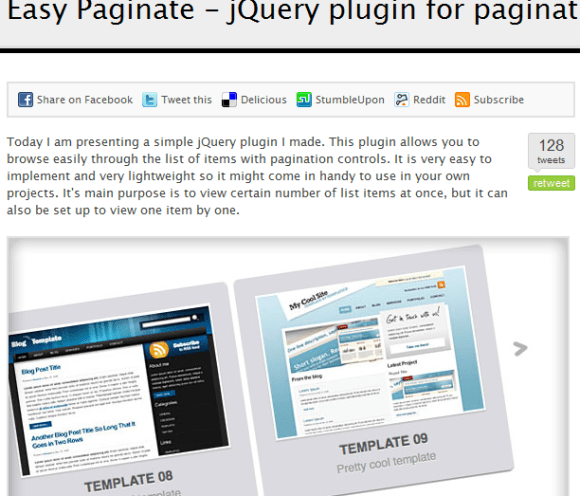 Easy Paginate .3 580x496 43 Best jQuery Carousel Sliders, Plugins, Tutorials and Examples