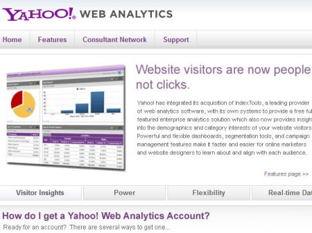 Yahoo! Web Analytics tools