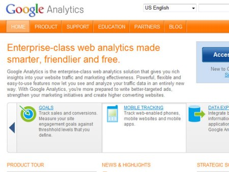 Google Analytics web analytics tools