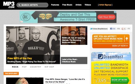 Screen Shot 2013 02 19 at 7.57.48 PM 450x281 Free Music Downloads Online (Legally)
