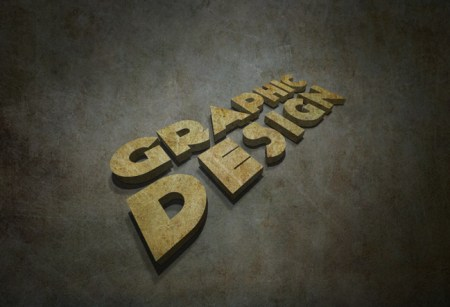 3D Grunge Text Tutorial With Illustrator and Photoshop 450x307 20 Best 3D Typography Tutorials   Part 1