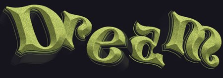 dream 3d typography