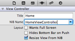 14 connecting homeviewcontroller xib How to Make An App for iOS Platform With Simple Steps