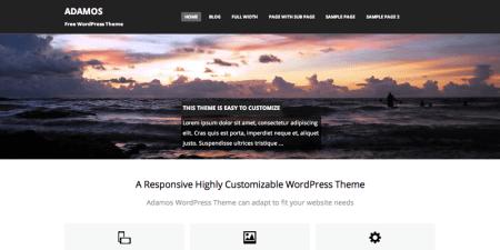 Adamos 450x225 75 Best Free Wordpress Themes of 2014 Till July