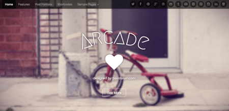 Arcade 450x219 75 Best Free Wordpress Themes of 2014 Till July