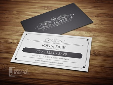 Classy & Elegant Vintage Business Card Template