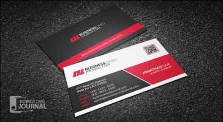 Creative & Modern Corporate Business Card With QR Code