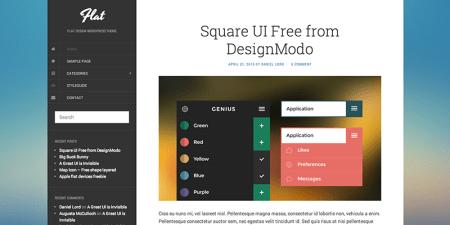 Flat 450x225 75 Best Free Wordpress Themes of 2014 Till July