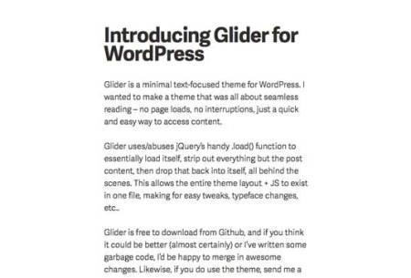 Glider 450x305 75 Best Free Wordpress Themes of 2014 Till July