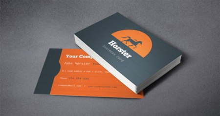Horster 450x238 75 Best Free Business Card Templates Worth Downloading