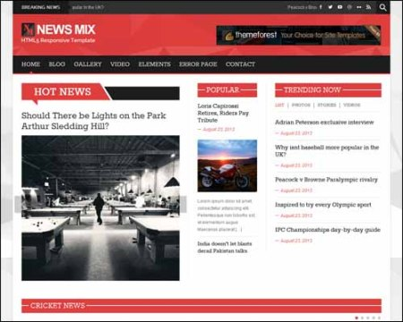 News Mix Light Free Magazine Portal News WordPress Theme
