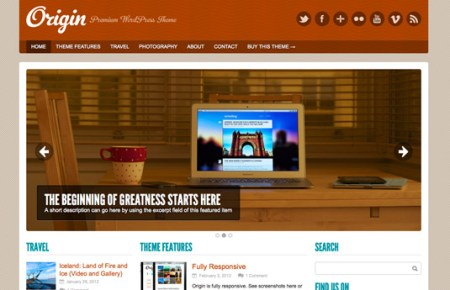 Origin 450x290 75 Best Free Wordpress Themes of 2014 Till July