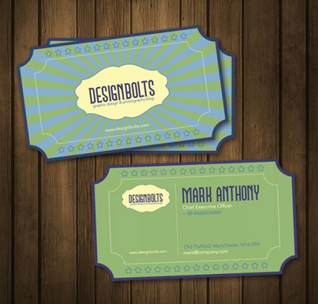Retro template 450x430 75 Best Free Business Card Templates Worth Downloading