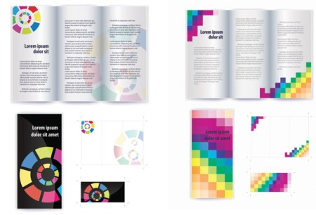 Shades of flyer and brochure layout vector