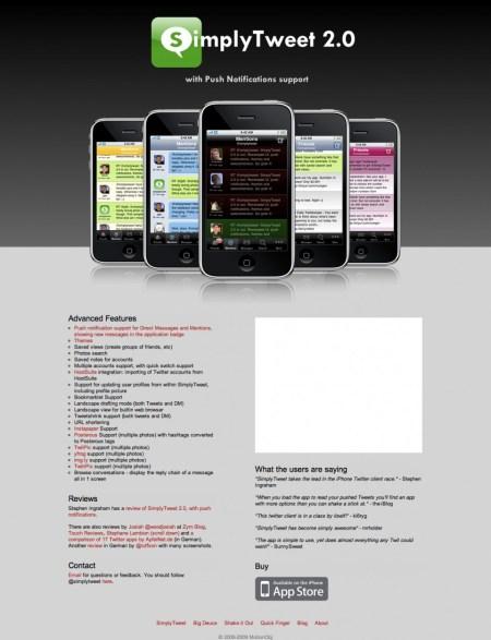 SimplyTweet Website