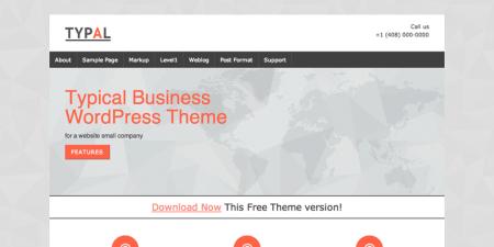 TYPAL 450x225 75 Best Free Wordpress Themes of 2014 Till July