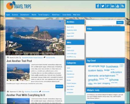 TravelTrips Free WordPress Theme