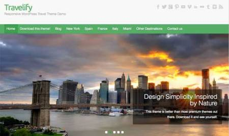 Travelify 450x268 75 Best Free Wordpress Themes of 2014 Till July