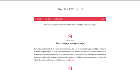Undiscovered 450x225 75 Best Free Wordpress Themes of 2014 Till July