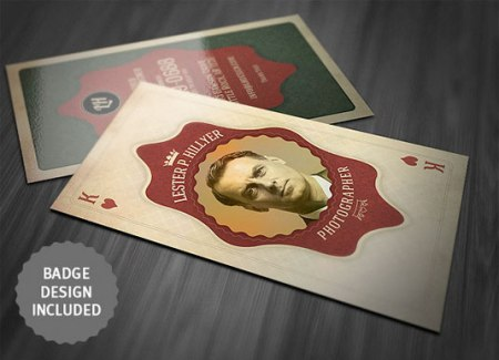 Vintage template design 450x325 75 Best Free Business Card Templates Worth Downloading