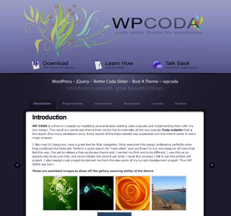 WP Coda 450x421 75 Best Free Wordpress Themes of 2014 Till July