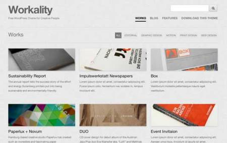 Workality 450x284 75 Best Free Wordpress Themes of 2014 Till July