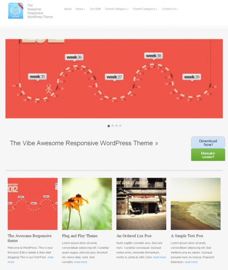 vFle 450x534 75 Best Free Wordpress Themes of 2014 Till July