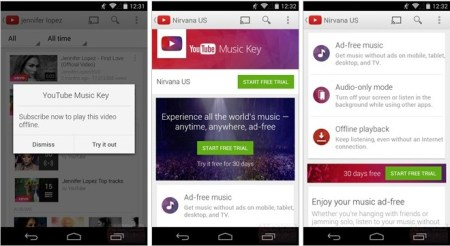 Screen Shot 2014 08 19 at 6.29.29 PM 450x246 YouTube Music Key   A Paid Music service from Google