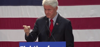 VIDEO: Slick Willy jousts with anti-Clinton heckler at Passaic County College