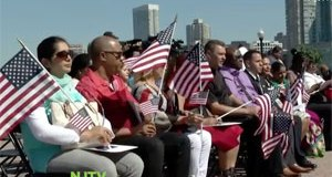 Immigrants from 17 Countries Sworn in as Citizens in Jersey City