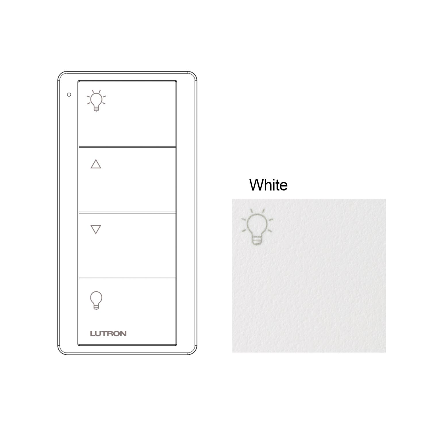 Lutron 4 Zone Lighting Control Lutron Pico Wireless White Remote Control | 4 Button Zone