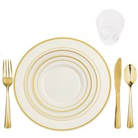 Elegant Disposable Dinnerware Plastic Wedding Plates ...