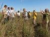 Российская группа в восстановленной высокотравной прерии. Фото И. Смелянского
