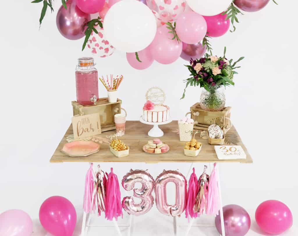 Decoration Anniversaire Girly 30 Ans Mon Anniversaire Girly Save The Deco